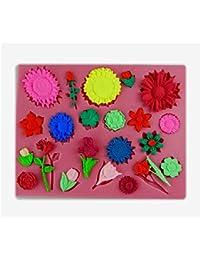 Auket Sun Flower Rose Fondant Savon Sugarcraft de décoration de gâteau de moule de silicone # 126