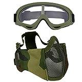 Die besten Airsoft Schutzbrille - Fansport Paintball Maske, Airsoft Masken Softair Maske Mesh-Maske Bewertungen