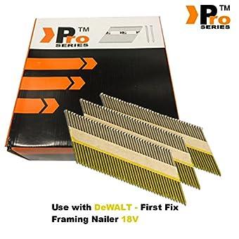 65mm - Pro Series D-Head Nail 65 mm Anneau galvanisé pour Dewalt DCN692 Nailer sans fil 18 V …