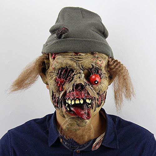 Geist Geschnitten Gesicht Kostüm Aus - CHUDAN Zombie Grabwache Ekelhaft Horror Böser Geist Halloween Bar Spukhaus Requisiten Reihe von lustigen Gesichtern