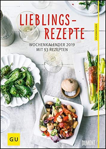 Lieblingsrezepte – Wochenkalender 2019 – Küchen-Kalender mit 53 Blatt – Format 21,0 x 29,7 cm – Spiralbindung: Basierend auf den Küchenratgebern von GU
