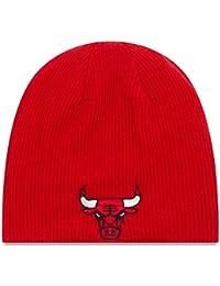 "Chicago Bulls New Era NBA ""Basic Team Beanie"" Reversible Knit Hat Chapeau"