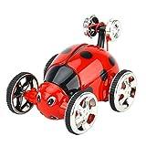 YRE Mini Controllo remoto Insetto Auto Tumbler, a. Flip Stunt Telecomando Auto Giocattoli per Bambini, Regali di Vacanza per Bambini,Red
