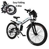 Ultrey E-Klappfahrrad 26 Zoll E-Bike Elektrofahrrad Mountainbike mit Großer Kapazität (36V 250W), Komfort Stoßdämpfung und 21-Gang Shimano