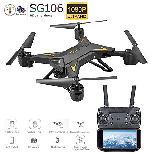 Drohne mit kamera hd Drohne Mit Kamera HD 1080 P WIFI FPV RC Professionelle Faltbare Quadcopter 20 Minuten Batterie (Farbe : Schwarz) 1080-hd-kamera