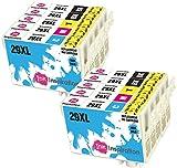 INK INSPIRATION Reemplazo para Epson 29 29XL Multipack 10 Cartuchos de Tinta Compatible con Epson...
