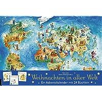 Weihnachten in aller Welt: Adventskalender mit 24 Büchern (Adventskalender mit Geschichten für Kinder / Mit 24 Mini…