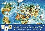 Weihnachten in aller Welt: Adventskalender mit 24 Büchern (Adventskalender mit Geschichten für Kinder / Mit 24 Mini-Büchern) - Rena Sack