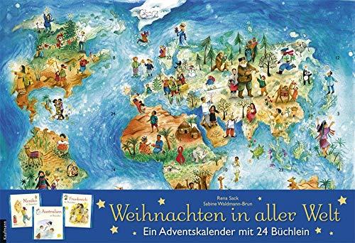 Weihnachten in aller Welt: Adventskalender mit 24 Büchern (Kinder Für Adventskalender)