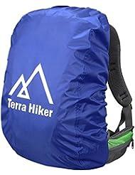 Coprizaino Impermeabile, Terra Hiker Coprizaino Antipioggia per Escursionismo e Trekking (Blu Zaffiro, S : 15 - 40 L)