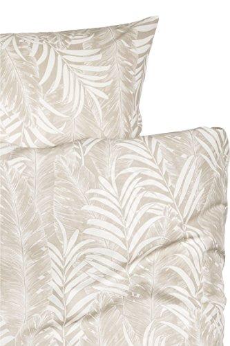 Duvet Cover Set Bettbezug Set Botanical Tropischen Pflanzen Betten Modern Smaragd Grün Blau Jungle Blätter Äste Floral Print 100Prozent Baumwolle Tropisch Twin Taupe - Loft Twin Full