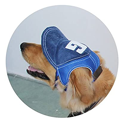 BEAUTOP Dog Baseball Sport Cap Hat - Outdoor Hat Sun Protection Cap for Small Medium Large Dog (Optional Size,Color) 1
