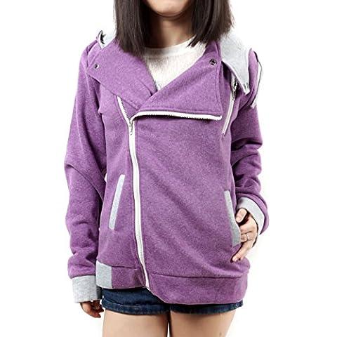 GooYoo 2017 Women's Warm Zip Hoodies Sweater Coat Outwear Jacket