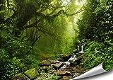 ARTBAY Forêt Poster XXL - 118,8 x 84 cm | Cascade dans la forêt Tropicale | Forêt Vierge | Népal |Poster de Nature |Qualité supérieure