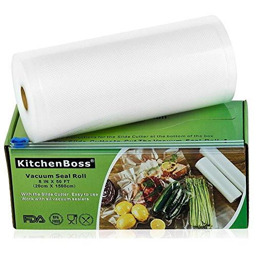 KitchenBoss Bolsas Vacío 1 Rolls 20x1500cm Caja Corte