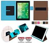 reboon Hülle für Blaupunkt Endeavour 1000 QC Tasche Cover Case Bumper | in Braun | Testsieger