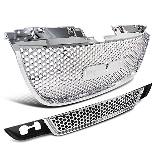 gmc-yukon-denali-xl-chrome-upper-mesh-grill-lower-grille-combo-2pcs-by-spec-d-tuning