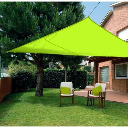 Quality Ferreteria Plus m292830 – Bâche voile Sombreo triangulaire imperméable 3.6 x 3.6 x 3.6 m Vert