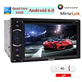 4G Dongle enthalten 2DIN Android6.0 Eincar Autoradio in Dash 6.2 Zoll DVD-Player Unterst¨¹tzung 1080P Video Display mit Lenkrad-GPS-Navigation 3D-Karte Spiegel Link-Auto-PC Monitor Entertainment Unterst¨¹tzung Bluetooth / USB / OBD2 / SD / 3G / 4G / WIFI