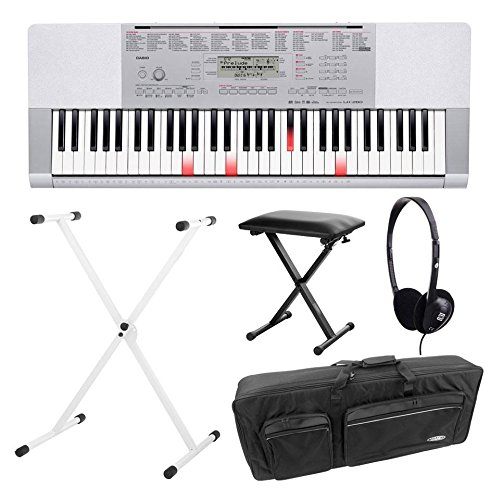 Casio-LK-280-Leuchttasten-Keyboard-Deluxe-SET-inkl-Kopfhrer-Stnder-Bank-und-Tasche