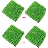 "ColourfulShop® Aquarium Artificial/Plastic Plant For Decoration - 11"" Square Grass Mat 
