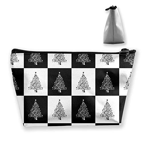 Kosmetiktasche Trapez Aufbewahrungstasche Weihnachtsbaum Modern Square Reise Kosmetiktasche Tolietry Taschen mit Reißverschluss