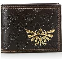 Meroncourt  Zelda Bifold Wallet With Embossed Link and Gold Foil Logos, Dark Brown, Set per la scuola  Marrone Dark Brown