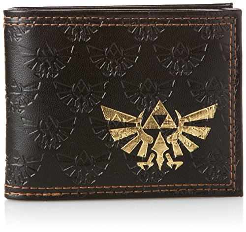 The-Legend-of-Zelda-Bi-Fold-Portemonnaie-Embossed-with-Gold-Foil-Logo-Bioworld
