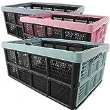 Klappbox, 32 Liter, 51 x 34 x 23cm, farbig sortiert, Polypropylen (Rosa)