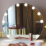 TJW,10 PCS Espejo Lámpara LED Hollywood,Espejo Tocador con Luz,Luces del Espejo del Maquillaje,USB Iluminación para la Tabla del Maquillaje