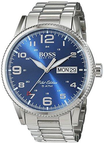 Hugo Boss Herren-Armbanduhr 1513329, Stahl/Blau