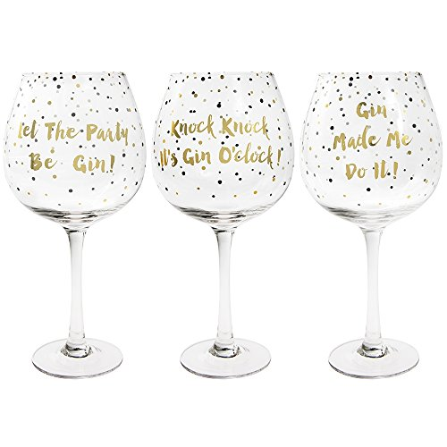 Gold Edition Gin Glass - Gin Balloon Glass - Assorted 1 Glass Picked at Random