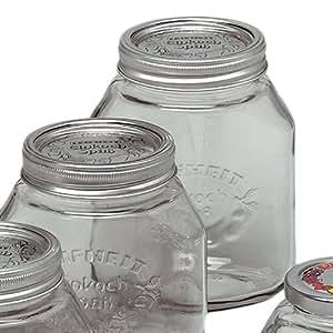 Einmachgläser 1 Liter : einkochgl ser 1 liter 6 st ck vorratsgl ser marmeladengl ser gew rzgl ser ~ Watch28wear.com Haus und Dekorationen
