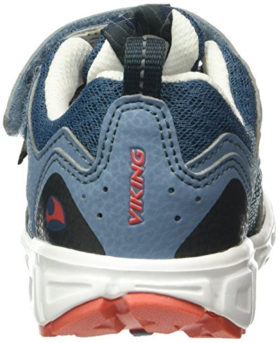 Viking Unisex-Kinder Hobbit Low-Top Blau (Midblue/Tomato 4971)