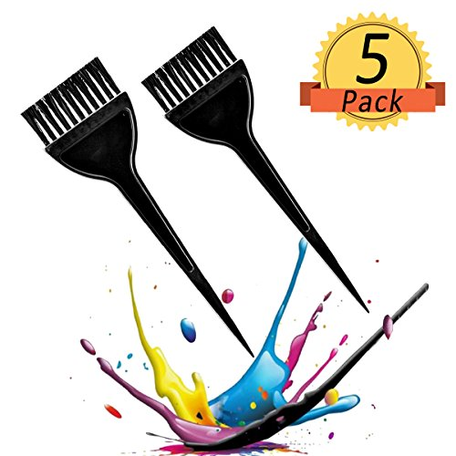 Hair Dye Brush, 5confezione Hair Coloring Brush Professional Hair tint Brush Hair Dye applicatore pennello, nero