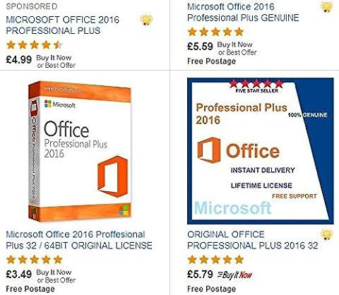Microsoft office professionnel 2016 plus version complète | 1 pc | 1 clé | livré par e-mail et USB