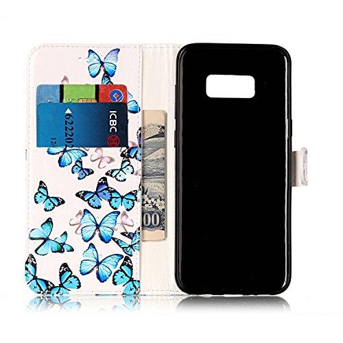 Cover per Samsung Galaxy S8 Plus Pelle ,Custodia per Samsung Galaxy S8 Plus,Sunroyal Marmo Flip Libro Stand Case Cover in PU Borsa e Portafoglio Wallet Ultra Slim TPU Silicon Gel Protezione Chiusura M Modello 09