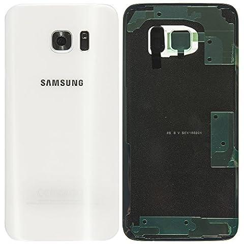 Original Samsung Akkudeckel white / weiß für Samsung G935F Galaxy S7 EDGE - (Akkufachdeckel, Batterieabdeckung, Rückseite, Back-Cover) -