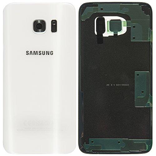 Original Samsung Akkudeckel white / weiß für Samsung G935F Galaxy S7 EDGE - (Akkufachdeckel, Batterieabdeckung, Rückseite, Back-Cover) - GH82-11346D