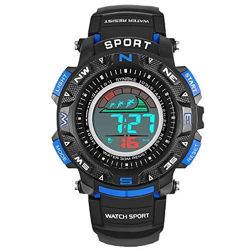 Pottoa Herren Damen Sportuhr | Fitness Analoge Armbanduhr | Die Multifunktions MilitäR Sport-Uhr LED Digital Armbanduhr Frauen für Geschenke, Dekoration