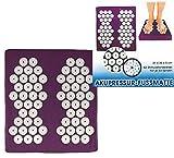 Tapis d'acupression Pied, 31x 35x 5cm, 62Stimulation toupie avec chacune 33Pointes Yoga Shanti