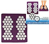 Akupressur Fussmatte, 31x35x5 cm, 62 Stimulationskreisel mit je 33 Spitzen Yoga Shanti