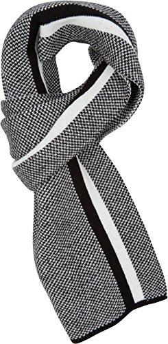 Sakkas CPXS1539 Rey Aztec Streifen Mitte Gewicht Unisex Winter-Schal - schwarz - One Size Regular