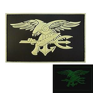 US Marine Navy Seals Glow Dark DEVGRU Insigne GITD SOCOM Morale PVC 3D Velcro Écusson Patch
