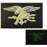 US Navy Seals Glow Dark DEVGRU Insignia GITD SOCOM Morale PVC 3D Touch Fastener Patch