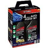 Stark 40034Kit d'entretien de voiture 4pièces–Cleaner nettoyant insectifuge, bord de jante d'entretien, polissage de voiture