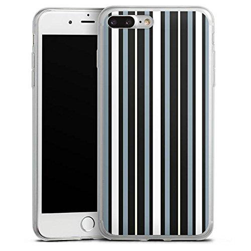 Apple iPhone X Slim Case Silikon Hülle Schutzhülle Streifen Stoff Muster Silikon Slim Case transparent