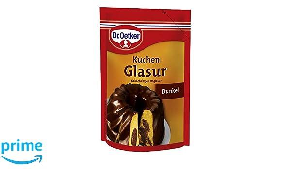 Dr Oetker Kuchen Glasur Dunkel 125 G Amazon De Amazon Pantry