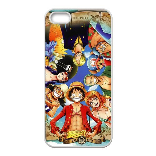 One Piece neuf Attractive couleur peinture Protecteur de peau et durs Protection d'écran Housses case Etui Coque pour Apple iPhone 55S