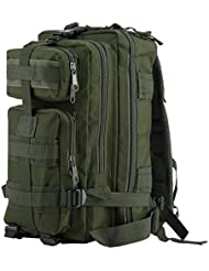 OUTAD Sac à Dos Tactique Militaire 24L 3P US Assault Pack Imperméable MOLLE (600D Nylon)